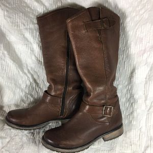 Tall brown boots wide calf